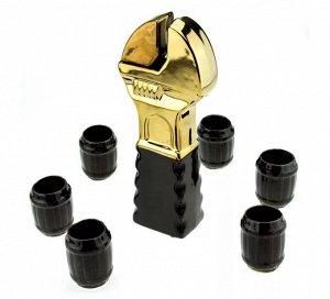 Штоф Ключ Гаечный Золото 0,5лит + 6 рюмок 796510