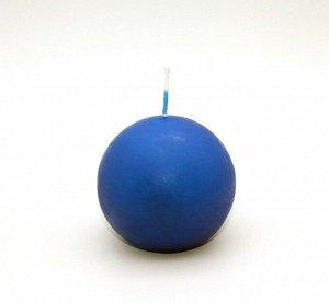 Свеча Шар Синяя 80мм 085107