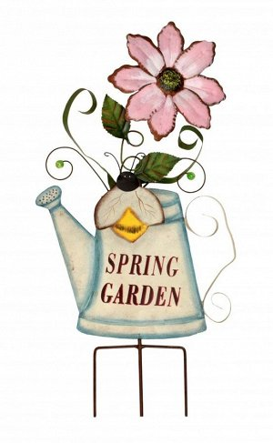 Декор садовый Лейка с цветком 58*28*5см/ CS-3541
