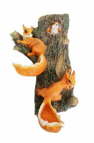 Фигурка Белки на дереве навесная 65см 39.05