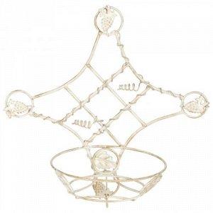 Подставка настенная Виноград 40-1011-W Белое Золото на 1 цветок
