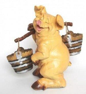Фигурка Свинка с коромыслом 39*22см 14.22