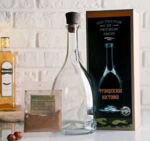Набор для приготовления напитка Французская настойка (Штоф 1лит+специи+инструкция) 4679655