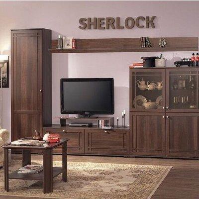 Классический и современный стиль. Мебель для каждого! — Гостиная Sherlock (Орех шоколадный - Дуб Сонома) — Мебель