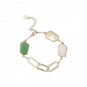 Материал: латунь, зелёный авантюрин, жёлтый и розовый кварц, латунное покрытие. Длина браслета: 15 + 6 см дополнительно.* Браслет «Безусловная любовь»