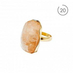 Материал: латунь, натуральный жёлтый кварц. Размер камня с оправой: 3 х 2 см. 20 размер.* Кольцо «Вдохновляющий кварц»