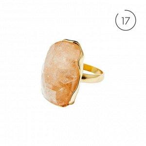 Материал: латунь, натуральный жёлтый кварц. Размер камня с оправой: 3 х 2 см. 17 размер.* Кольцо «Вдохновляющий кварц»