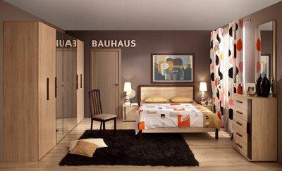 Классический и современный стиль. Мебель для каждого! — Спальня BAUHAUS (Дуб Сонома-Орех шоколадный) — Мебель