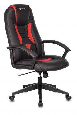 Кресло игровое Бюрократ Viking-8 черный/красный искусственная кожа крестовина пластик