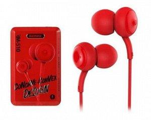 Наушники Remax RM-510 красные с микрофоном