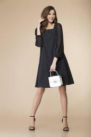 Платье Romanovich Style 1-2094 черный_принт