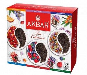 Чай Akbar Акбар набор Подарочный ассорти, 6 видов по 10 шт