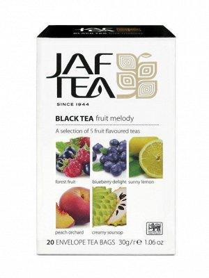 Чай Jaf Tea Fruit Melody Ассорти черный 5 видов 20 пакетиков по 1.5 г