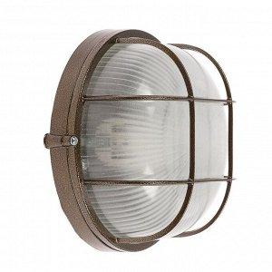 Светильник НБП 03-60-002 УХЛ1, 60 Вт, Е27, 220 В, IP54, до +130°, с решеткой, цвет бронза