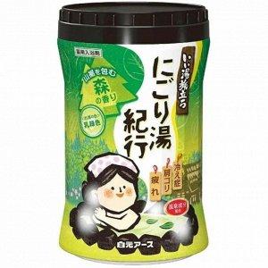 """220535 """"Hakugen Earth"""" """"Банное путешествие"""" Увлажняющая соль для ванны с восстанавливающим эффектом (с ароматом леса), банка 600 гр"""