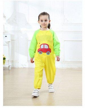 """Детский непромокаемый комбинезон, принт """"Машинка"""", цвет  желтый"""