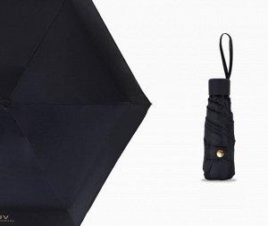 Складной механический зонт, цвет черный