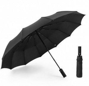 Зонт складной полуавтоматический, цвет черный