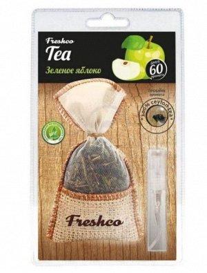 """Ароматизатор воздуха подвесной органик """"Freshco Tea"""" TE-21 Зеленое яблоко"""