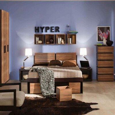 Классический и современный стиль. Мебель для каждого! — Спальня Hyper (Венге - Палисандр темный) — Мебель
