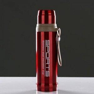 Термос Состав-Металл, пластик, текстиль Размер-7,5 см × 28 см Цвета:красный, синий. Без гарантии цвета.