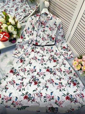 Платье Ткань прадо ремень в комплекте Принт может незначительно отличаться от фото