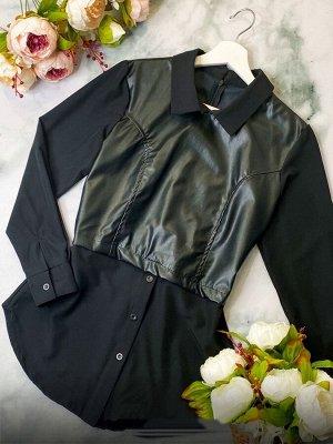 Рубашка Ткань барби +эко кожа