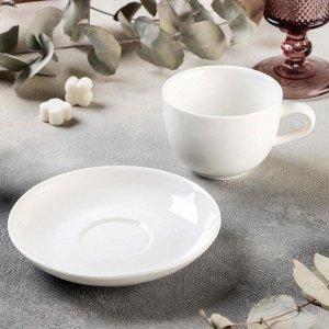 Чайная пара Magistro «Бланш», чашка 200 мл, блюдце 14,5 см