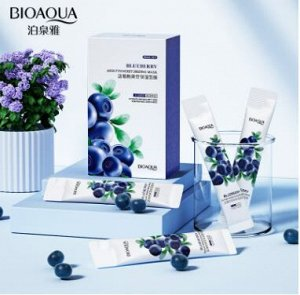 Ночная маска для лица  Blueberries Elastic mask BIOAQUA 4гр*1шт
