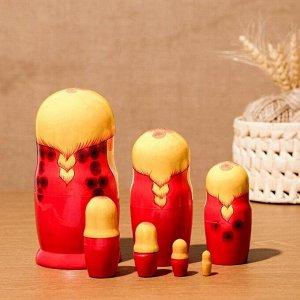 Матрёшка «Сударушка», жёлтый платок, 7 кукольная, 17 см