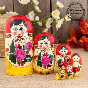 Матрёшка  «Семёновская», красный платок, 7 кукольная, 17 см