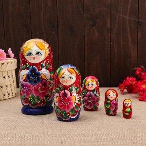 """Матрёшка 5-ти кукольная """"Настя"""" ромашки , 17-18см, ручная роспись."""