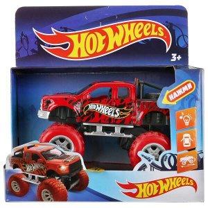 FY6108G-R2 Машина металл свет-звук hot wheels ВНЕДОРОЖНИК, 12 см, дв, подв., инер, кор. Технопарк в кор.2*36шт