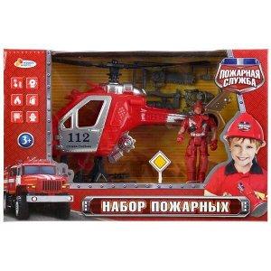 1903Y011-R Набор пожарных солдатик с вертолетом, с аксесс. в кор. 19*13*2см Играем вместе в кор.2*24шт