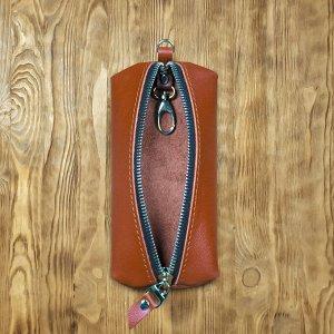 Ключница Ключница  из натуральной качественной телячьей кожи хорошей выделки, прошито толстой прочной нитью.  Внутри кольцо для ключей.