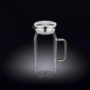 WILMAX Thermo Glass Термо кувшин со стальной крышкой 1000мл WL?888209/A