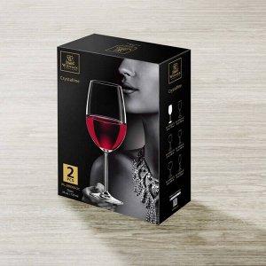 WILMAX Crystalline Набор бокалов для вина 2шт, 770мл, в п.у. WL?888000/2C