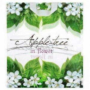 """Пакет подарочный ПВД с петлевой ручкой 38х42см """"Яблоня в цве"""
