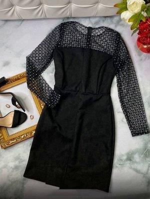 Платье Ткань спандекс+сетка