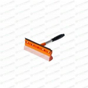 Губка для мытья стёкол Airline, поролон, с ручкой, длина 30 см, ширина 20см, с водосгоном, арт. AB-M-04