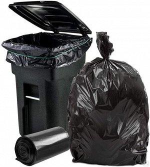 Мешки для строительного мусора с усиленным донным швом 180л 10шт ПВД в рулонах ONLY ONE черные МР-774 (2150) 1/6
