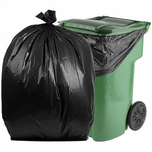 Мешки для мусора ПВД в рулонах 240л 10шт ONLY ONE черные МР-646 (1818) 1/15