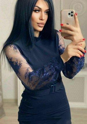 Платье Ткань барби + гипюр Длина 95-100 см