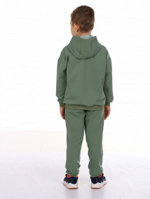 Костюм Цвет: хаки; Состав: 80%хлопок, 20%п/э; Материал: Футер двухнитка Модный спортивный костюм для детишек -приятный к телу. В нем Вы будете чувствовать себя стильно и комфортно. Толстовка свободн