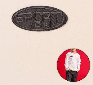 Термоаппликация «Sport», 7,2*3,5см, цвет серый