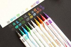 Набор двусторонних маркеров металлик DM-560 / 10 цветов