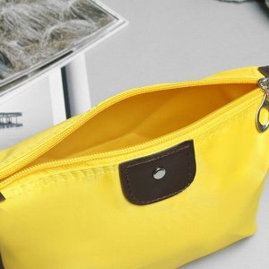 Косметичка дорожная, отдел на молнии, цвет жёлтый