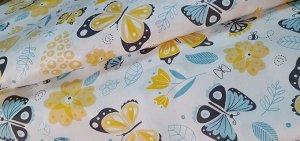 Ткань Сатин - Бабочки 0,5*1,6м