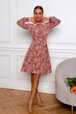 Платье Размер: 42 / 44 / 46 / 48 Отложные воротнички были в моде в 60-е и 80-е годы и сейчас снова на пике популярности! Хлопковый воротничок и манжеты контрастного оттенка создают гиперженственный об