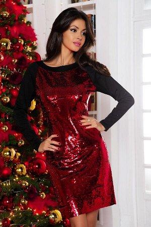 """Платье Размер: 44 Шикарное трикотажное ! Перед двусторонняя пайетка Идеальная посадка! Модель """"мышь"""""""